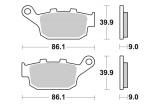 Zadní brzdové destičky SBS 881LS - Honda CRF 1000 L Africa Twin DCT, 1000ccm - 16-19
