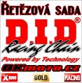 Řetězová sada D.I.D - 520ERVT GOLD X-ring - Husqvarna TC 450, 450ccm - 02-10