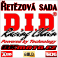 Řetězová sada D.I.D - 520ERVT GOLD X-ring - KTM 640 LC4 Supermoto, 640ccm - 99-06