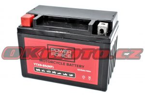Motobaterie POWER FORCE YTX9-BS, 12V, 8Ah