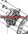 Náboj zadní rozety Benelli - Benelli TRK 502 X, 500ccm 18-19