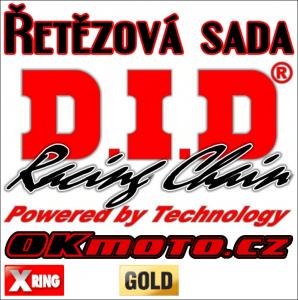 Řetězová sada D.I.D - 520VX3 GOLD X-ring - CF Moto 650 MT, 650ccm - 17-20