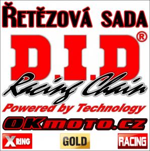 Řetězová sada D.I.D - 520ERVT GOLD X-ring - Yamaha YFM 700 R Raptor, 700ccm - 06-20